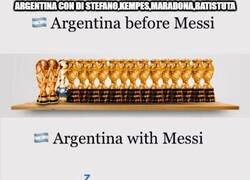 Enlace a Pero Messi tiene más ligas y supercopas