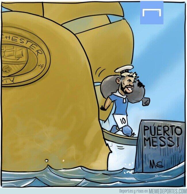 1131406 - El Kun, listo para desembarcar donde vaya Messi