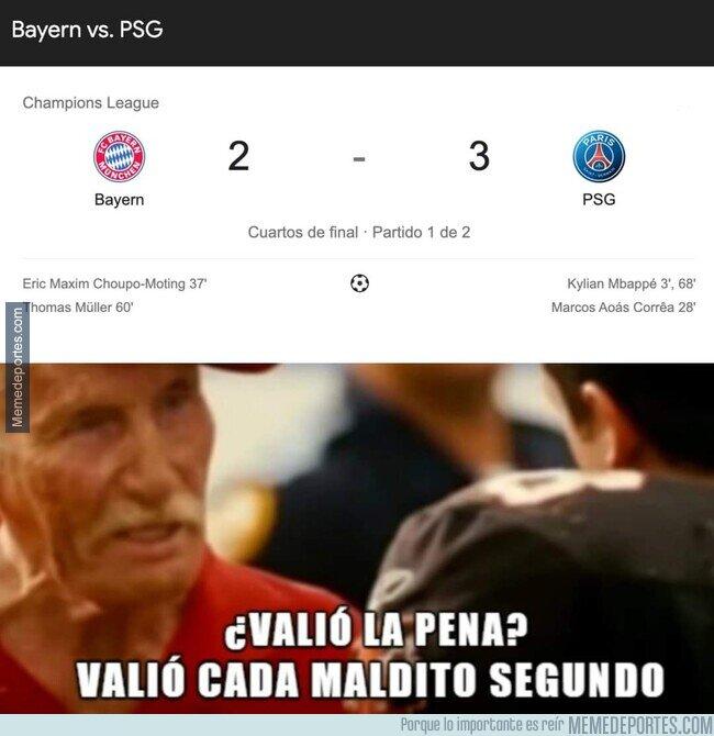 1131977 - ¿Valió la pena ver TODO el partido entre Bayern y PSG?
