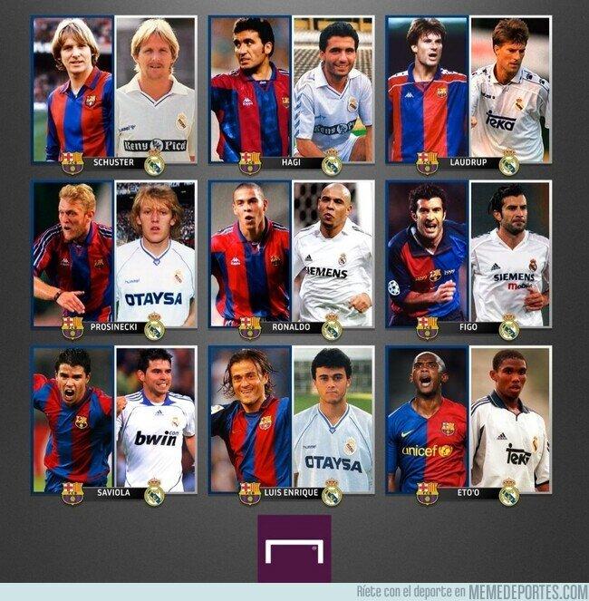 1132138 - Jugadores que vistieron las dos camisetas del Clásico