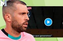 Enlace a La polémica respuesta de Jordi Alba a esta arenga de Piqué por la que todos cuestionan su mentalidad.