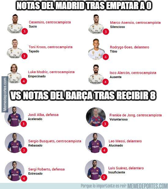 1132714 - Sport y su criterio a la hora de poner notas al Barça tras recibir 8 y al Madrid por pasar a semis