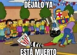 Enlace a El Barça aplasta al Athletic en la final