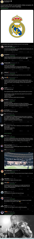 1133020 - Las demoledoras respuestas que está recibiendo el Real Madrid tras anunciar la Superliga europea