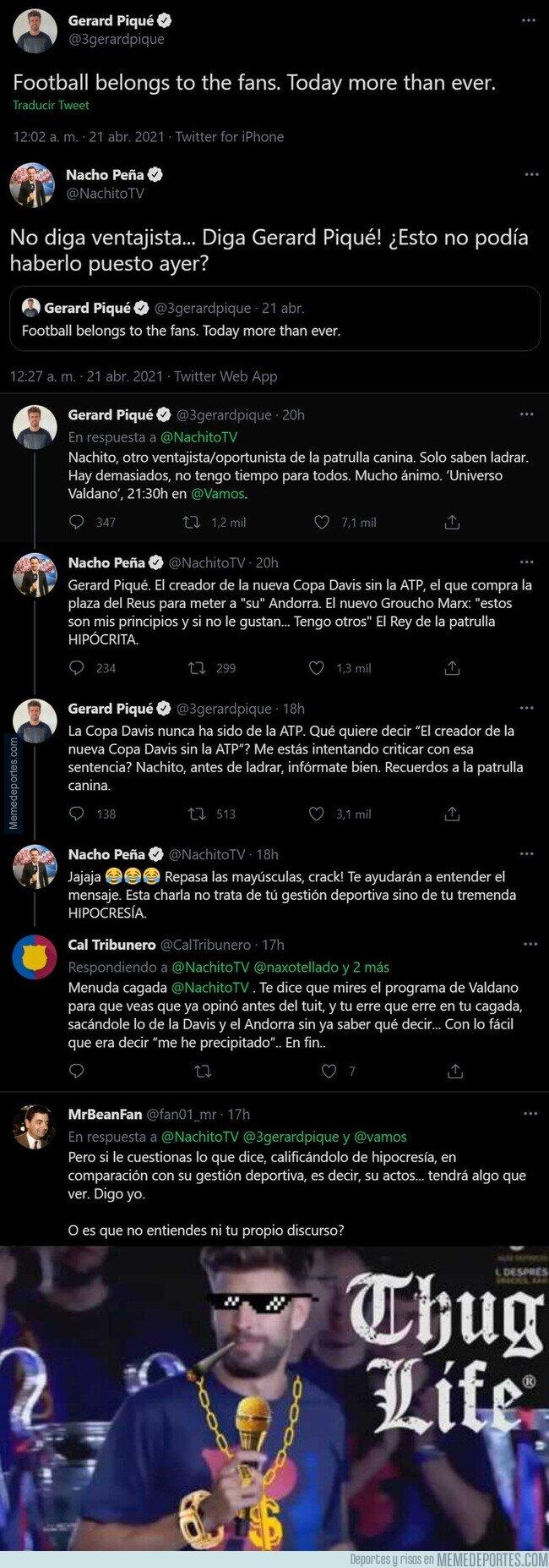 1133409 - Gerard Piqué acaba de destrozar por completo al 'periodista' Nacho Peña con todos estos tuits