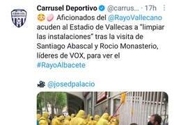 Enlace a La afición del Rayo 'desinfecta' el estadio