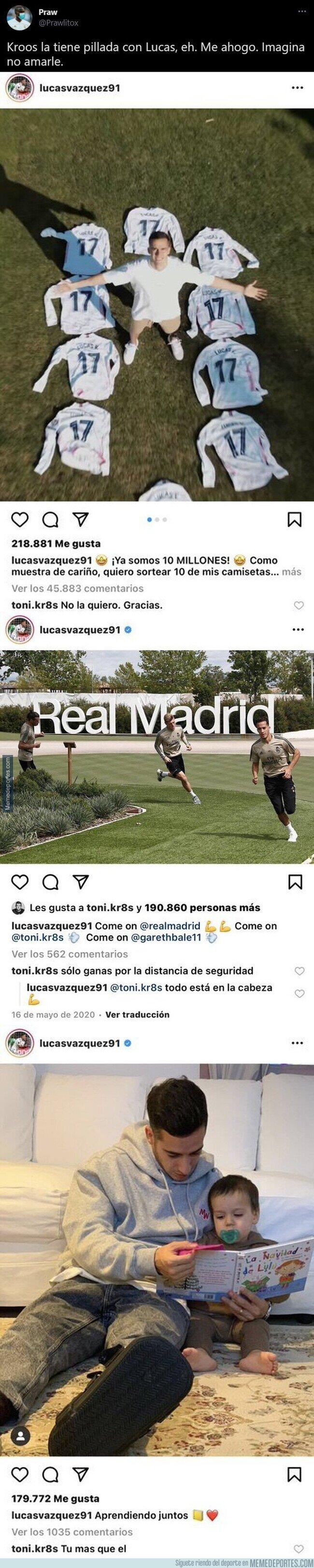 1134054 - Toni Kroos se gana el aplauso de todo el madridismo por estas respuestas que le deja a Lucas Vázquez en redes sociales