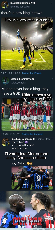 1134246 - Lukaku aviva la guerra en las redes contra Zlatan Ibrahimovic c on este tremendo miensaje