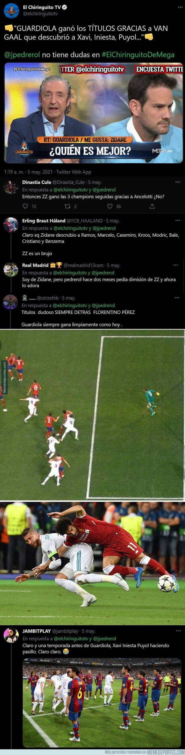 1134463 - El ridículo monumental de Pedrerol con esta frase sobre Guardiola para menospreciar su nivel como entrenador