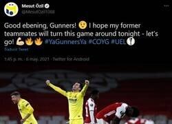 Enlace a Özil calentó la semifinal burlándose del inglés de Emery. La prepotencia se paga