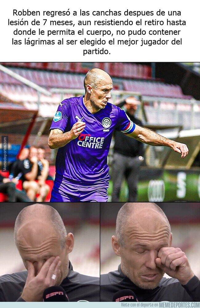 1134707 - Robben regresa de su lesión con una emotiva reacción