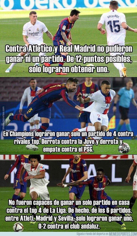 1134716 - El Barça, atragantado contra los equipos grandes