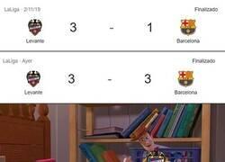 Enlace a La anterior visita del Barça al Ciutat de Valencia fue peor...