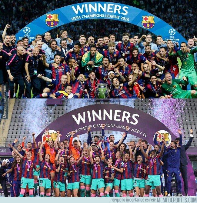 1135247 - 1er club en ganar la Champions masculina y femenina