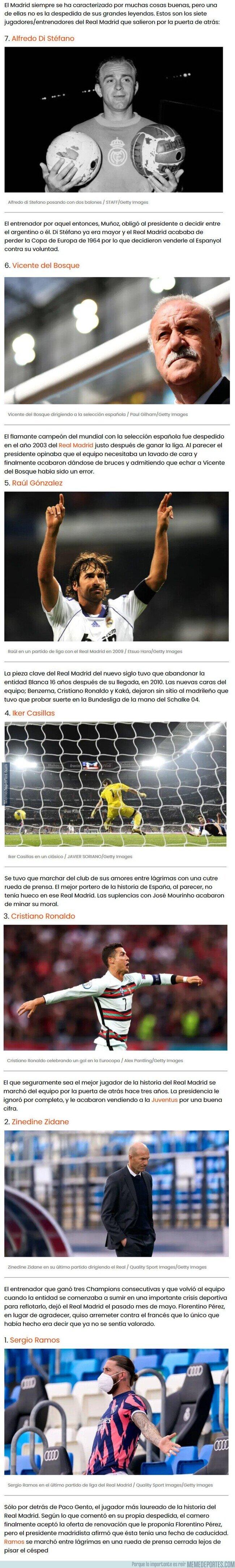1137679 - Las leyendas del Real Madrid que salieron por la puerta de atrás