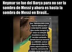 Enlace a Neymar carga contra los brasileños que apoyarán a Argentina por Messi