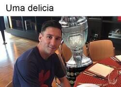 Enlace a El desayuno de Messi esta mañana