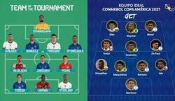 Enlace a El 11 ideal de la Euro y Copa América. ¿Te animas a hacer un 11 entre ambos torneos?