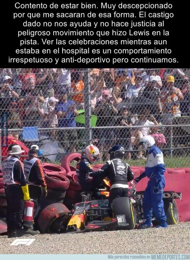 1140190 - Verstappen no se guarda nada contra Hamilton tras el choque sufrido en Silverstone