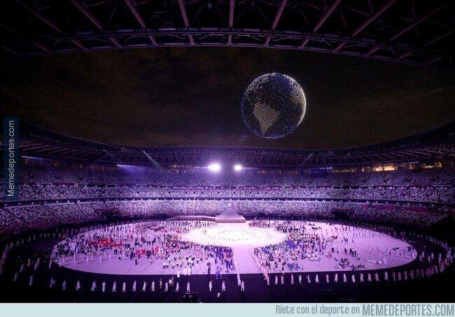 1140490 - 1824 drones formaron un planeta tierra en la inauguración de los juegos olímpicos