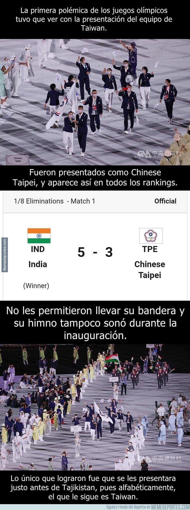 1140540 - Taiwan es presentado en los juegos olímpicos como Chinese Taipei
