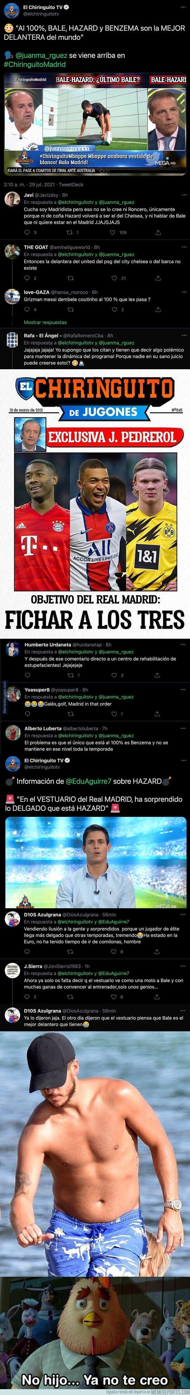 1140792 - Todo el mundo se está riendo con estas informaciones de El Chiringuito sobre Bale y Hazard