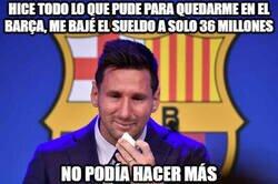 Enlace a Pobre Messi, hizo hasta lo imposible por quedarse en el equipo que amaba