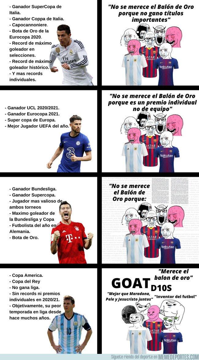 1144408 - Si comparamos la temporada 20/21 de Messi, Cristiano, Jorginho y Lewandowski, el resultado es un poco odioso