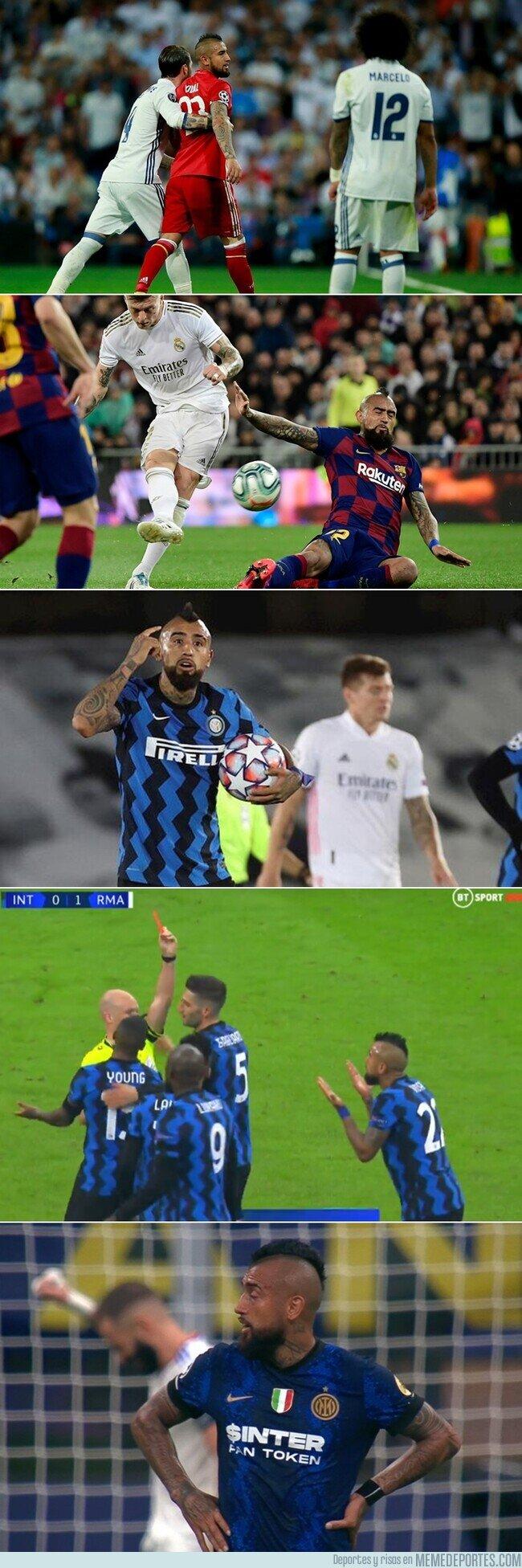 1144633 - Arturo Vidal ha vuelto a perder un partido contra el Madrid