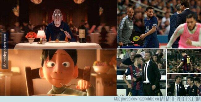 1144897 - Viejos recuerdos de Messi haciendo desplantes a su entrenador