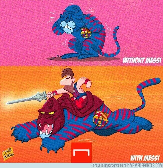 1144999 - Este Barça no es tan fiero sin Leo, por @goalglobal