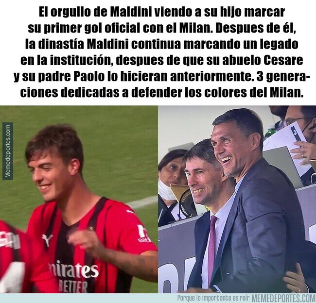 1145244 - Daniel Maldini continua un legado de 3 generaciones en el Milan
