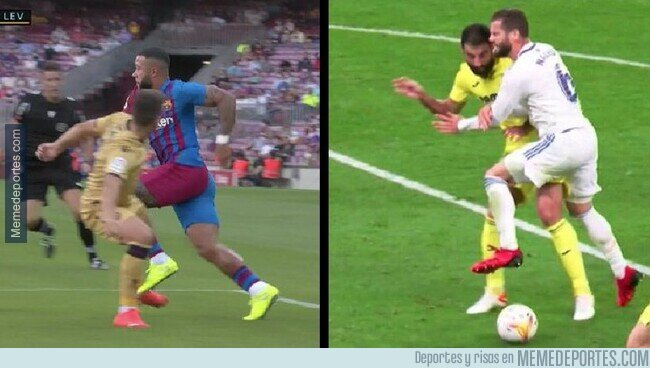 1145294 - Uno de los dos fue pitado como penalti y el otro no