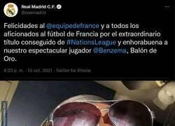 Enlace a No es broma, el Real Madrid ha pedido el Balón de Oro para Benzema por ganar la Nations League