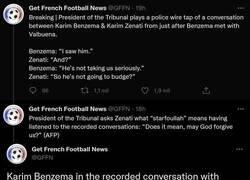 Enlace a Atención a esto: La conversación de Benzema que le podría llevar a la cárcel en breve si se demuestra que es culpable