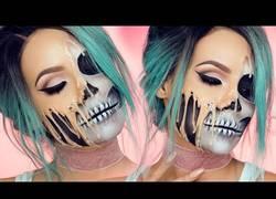 Enlace a El alucinante trabajo para conseguir esta obra de arte con maquillaje