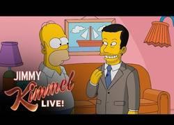 Enlace a Homer Simpson le da un tour por todo Springfield nada más y nada menos que a Jimmy Kimmel
