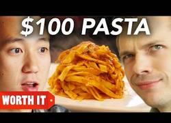 Enlace a Frente a frente un plato de pasta de 8$ vs otro de 100$ (Inglés)