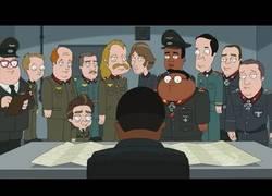 Enlace a Hitler se entera que fue animado como The Cleveland Show (inglés)