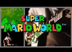 Enlace a Juega al Super Mario World que yo le pongo la música con mis instrumentos