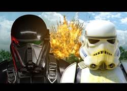 Enlace a Fans de Star Wars crean una parodia de la nueva peli de Rogue One