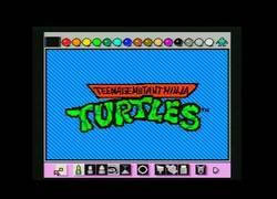 Enlace a La intro de Teenage Mutant Ninja Turtles hecha con Mario Paint