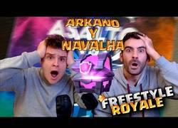 Enlace a Arkano y Navalha de la batalla de los gallos improvisan sobre Clash Royale