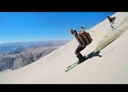 Enlace a Esquiar en las dunas de un desierto es una sensación única