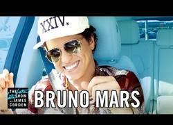 Enlace a James Corden invita a su famoso coche a Bruno Mars a pasar un gran rato cantando