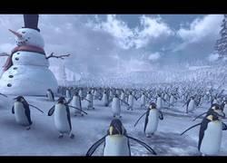 Enlace a 11.000 Pingüinos vs 4000 Santa Claus la batalla más sanguinaria jamás vista