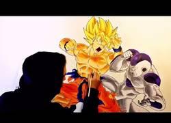 Enlace a Haciendo un mural de Goku vs Freezer tardando unas 35 horas totales de trabajo!!!