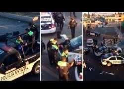 Enlace a WTF. Pillan a varios policías saqueando en México