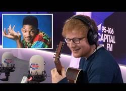 Enlace a Ed Sheeran cantando la intro del Príncipe de Belair y su resultado es fantástico