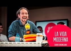 Enlace a Divertida entrevista a Pablo Iglesias en La Vida Moderna de Cadena Ser